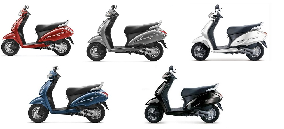 honda activa colors