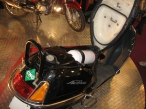 CNG Activa Tank Fitting Space