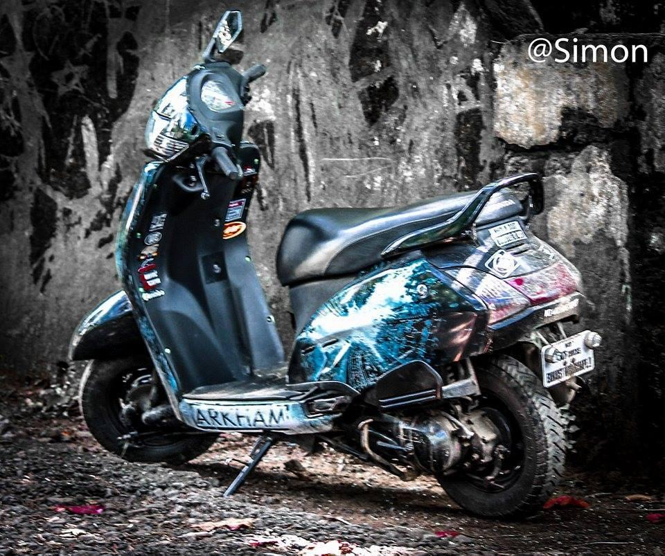 modified activa with Stickers