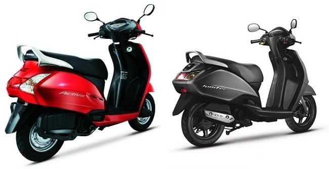 Compare Activa vs jupiter