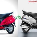 Compare Activa 3g, I, 125 vs Suzuki Access