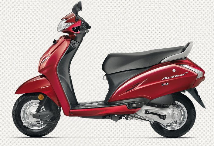 Honda Activa 4G in Imperial Red Metallic Color