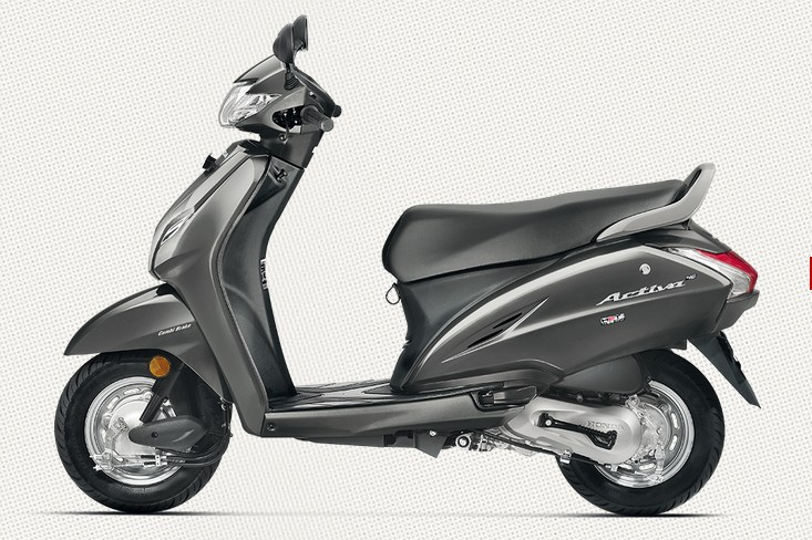 Honda Activa 4G in Matte Axis Grey Metallic Color