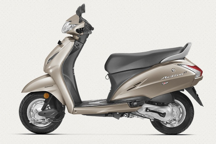 Honda Activa 4G in Matte Selen Silver Metallic Color