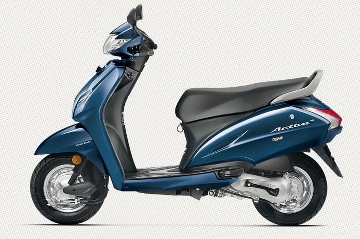Honda Activa 4G in Trance Blue Metallic Color
