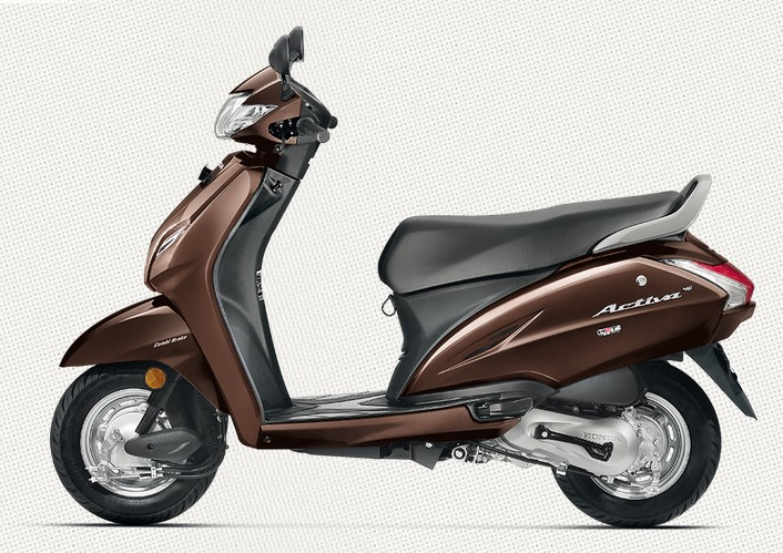 Honda Activa 4G in Majestic Brown Metallic Color