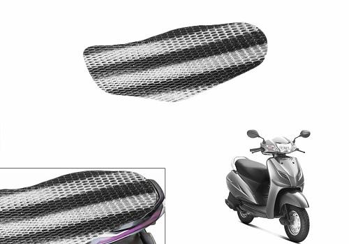 Speedwav Black & White Scooter Net Seat Cover Sheet-Honda Activa 3G