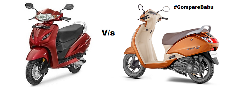 Compare Honda Activa 4G VS TVS Jupiter ZX